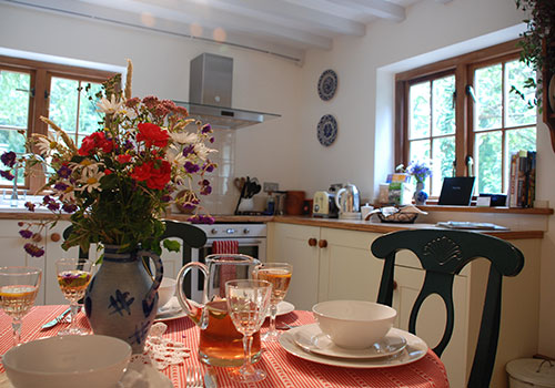 Spring Cottage Wye Valley Holiday - Kitchen Dinner